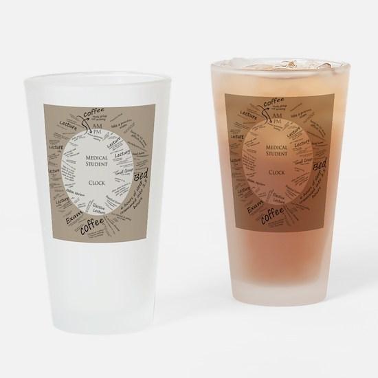 clockmedstu Drinking Glass