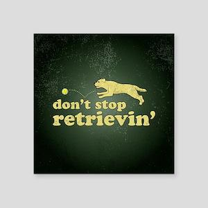 "retrievin-distressedbgyelsq Square Sticker 3"" x 3"""