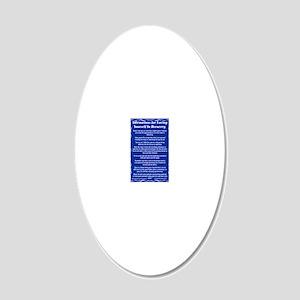 23X35AffirmationsTribalBT 20x12 Oval Wall Decal