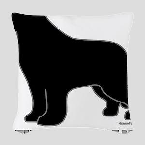 BlackNewfoundland_newstyle Woven Throw Pillow