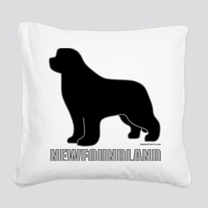 BlackNewfoundland_newstyle Square Canvas Pillow