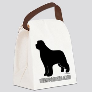BlackNewfoundland_newstyle Canvas Lunch Bag