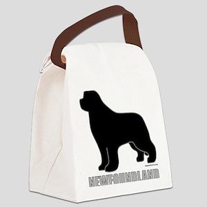 BlackNewfoundland_newstyle Canvas Lunch Bag