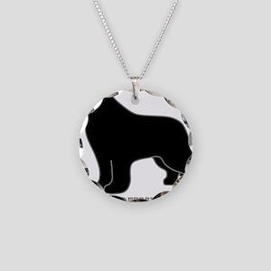 BlackNewfoundland_newstyle Necklace Circle Charm