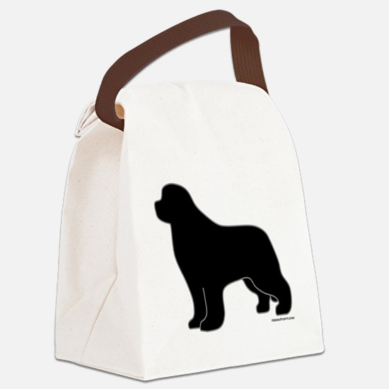 BlackSilhouette_newstyle Canvas Lunch Bag