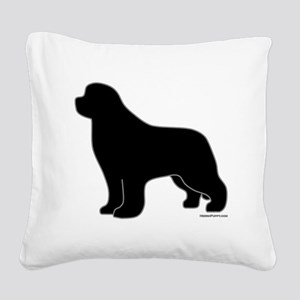 BlackSilhouette_newstyle Square Canvas Pillow