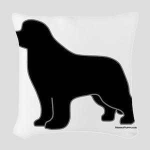 BlackSilhouette_newstyle Woven Throw Pillow