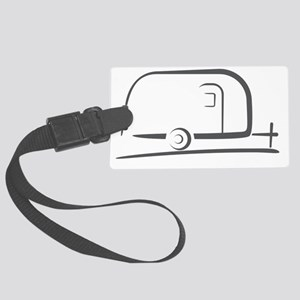Airstream_16_outline_gray_300ppi Large Luggage Tag
