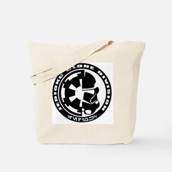 clone logo black Tote Bag