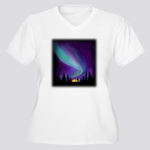 Northern Light Women's Plus Size V-Neck T-Shirt