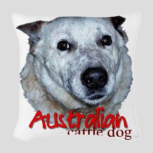 AustCattleDog Woven Throw Pillow