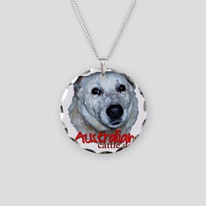 AustCattleDog Necklace Circle Charm