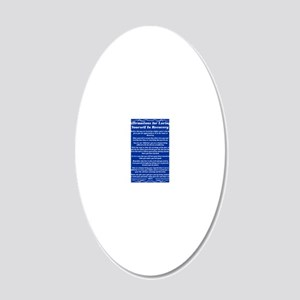 4.25x5.5aAffirmationsTribalB 20x12 Oval Wall Decal