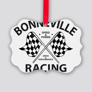 Racing Bonneville Picture Ornament