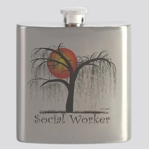 Social Worker Weeping Willow Flask