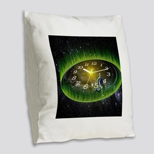 Path Of Life Burlap Throw Pillow
