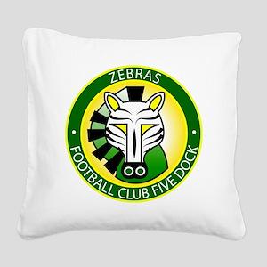 Zebras Square Canvas Pillow