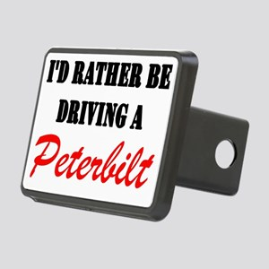 id rather be driving a pet Rectangular Hitch Cover