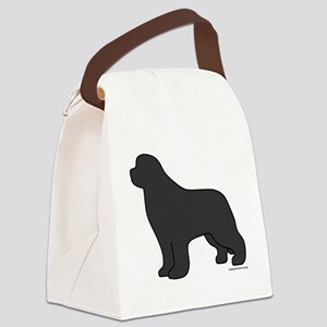 Gray Canvas Lunch Bag