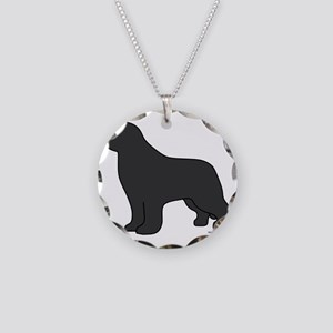 Gray Necklace Circle Charm