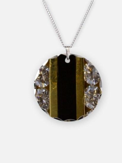 diamond_black_coral_gold_rin Necklace
