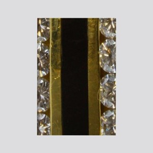 diamond_black_coral_gold_ring_sta Rectangle Magnet