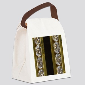 diamond_black_coral_gold_ring_sta Canvas Lunch Bag