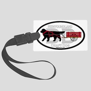 Newfoundland Draft Dog Title Large Luggage Tag
