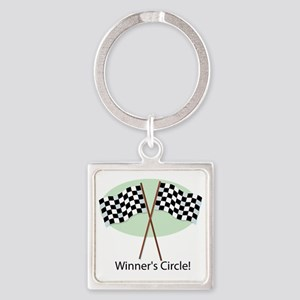 winners circle Square Keychain