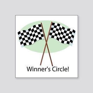 "winners circle Square Sticker 3"" x 3"""