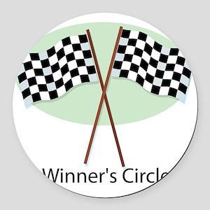 winners circle Round Car Magnet