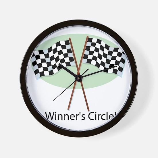 winners circle Wall Clock