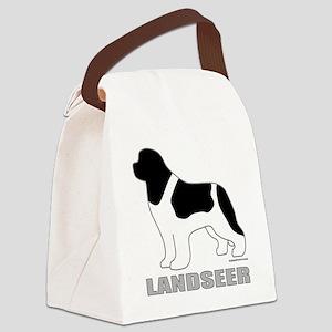 LandseerDog Canvas Lunch Bag