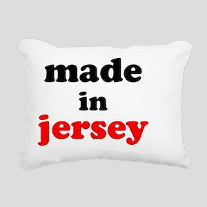 MIJ2blackred Rectangular Canvas Pillow