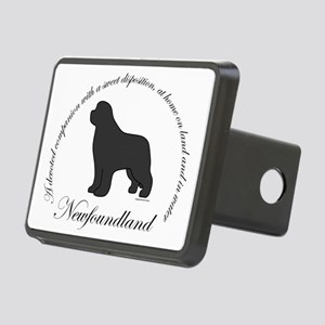 GrayNewfOval Rectangular Hitch Cover