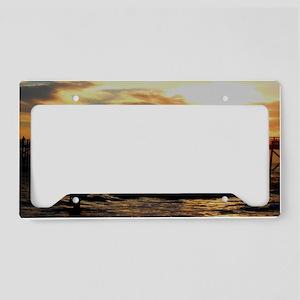 Flagler SunrisetrimmedIMG_388 License Plate Holder