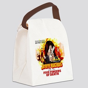 Jimmy Ruck and the 5 Fingers of D Canvas Lunch Bag