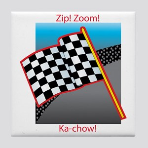 zip zoom kachow Tile Coaster