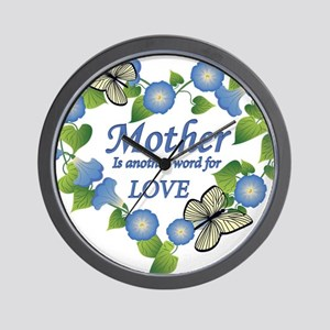 Mothers Love  Heart Wall Clock