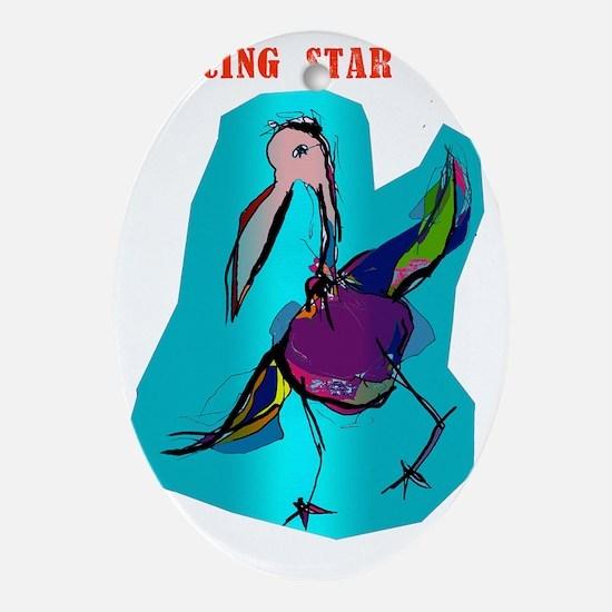 dancing star_bag Oval Ornament