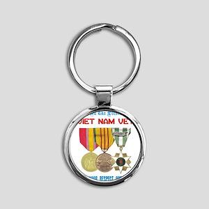 presence of vn vet Round Keychain