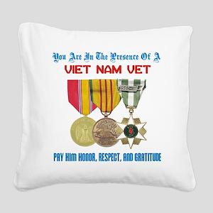presence of vn vet Square Canvas Pillow
