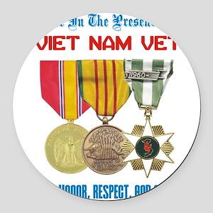 presence of vn vet Round Car Magnet