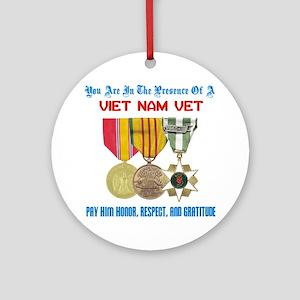 presence of vn vet Round Ornament