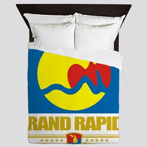 Grand Rapids (Flag 10) Queen Duvet