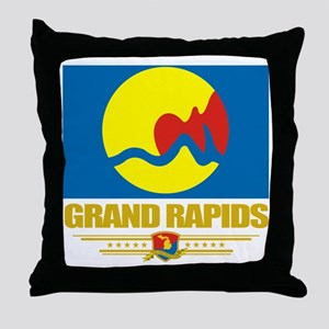 Grand Rapids (Flag 10) Throw Pillow