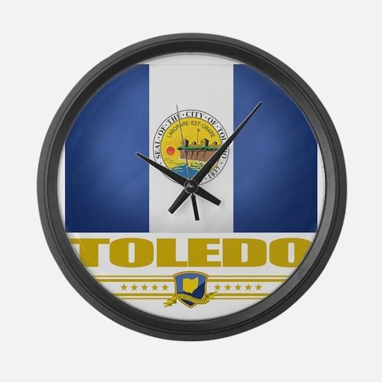 Toledo (Flag 10) Large Wall Clock