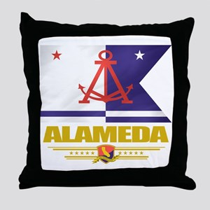 Alameda (Flag 10) Throw Pillow