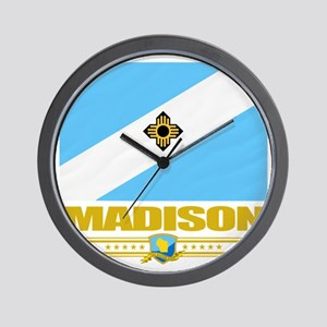Madison (Flag 10) Wall Clock