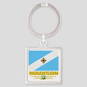 Madison (Flag 10) Square Keychain